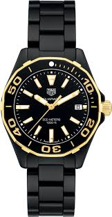 Tag Heuer Aquaracer Black Dial Ladies Ceramic Watch Replica