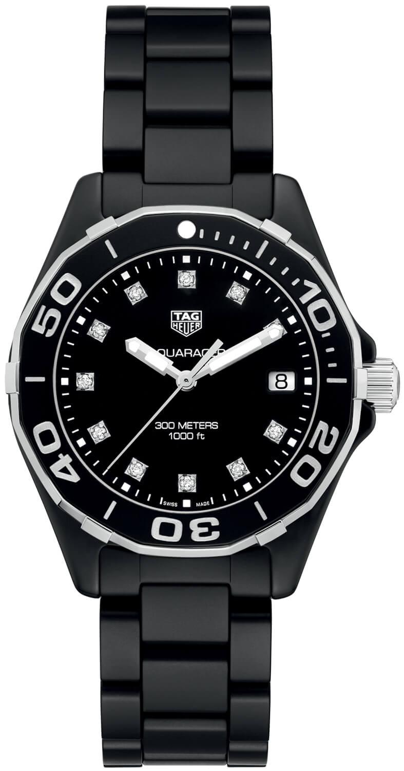 Tag Heuer Aquaracer Black Diamond Dial Ladies Watch Replica