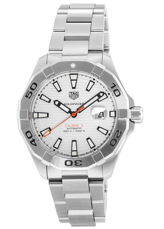 Tag Heuer Aquaracer White Dial Automatic Mens Stainless Steel Watch Replica