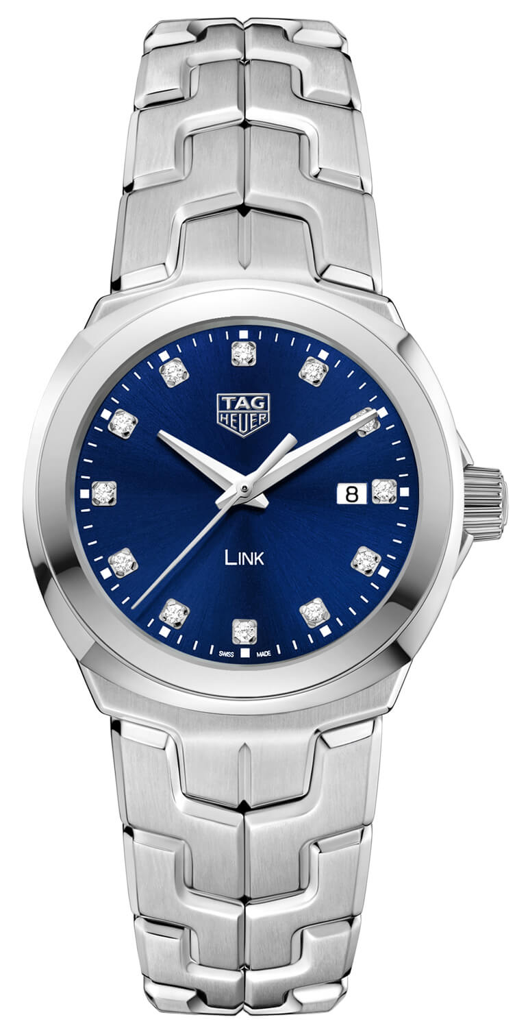 Tag Heuer Link Blue Diamond Dial Ladies Watch Replica