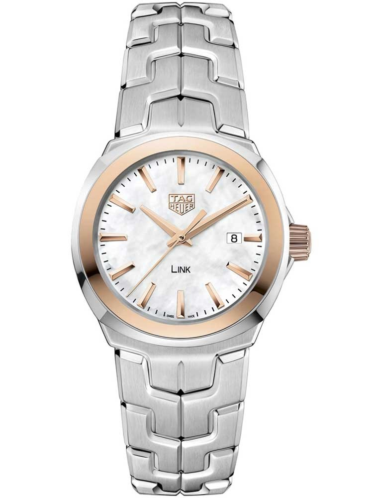 Tag Heuer Link Mother of Pearl Dial Ladies Watch Replica