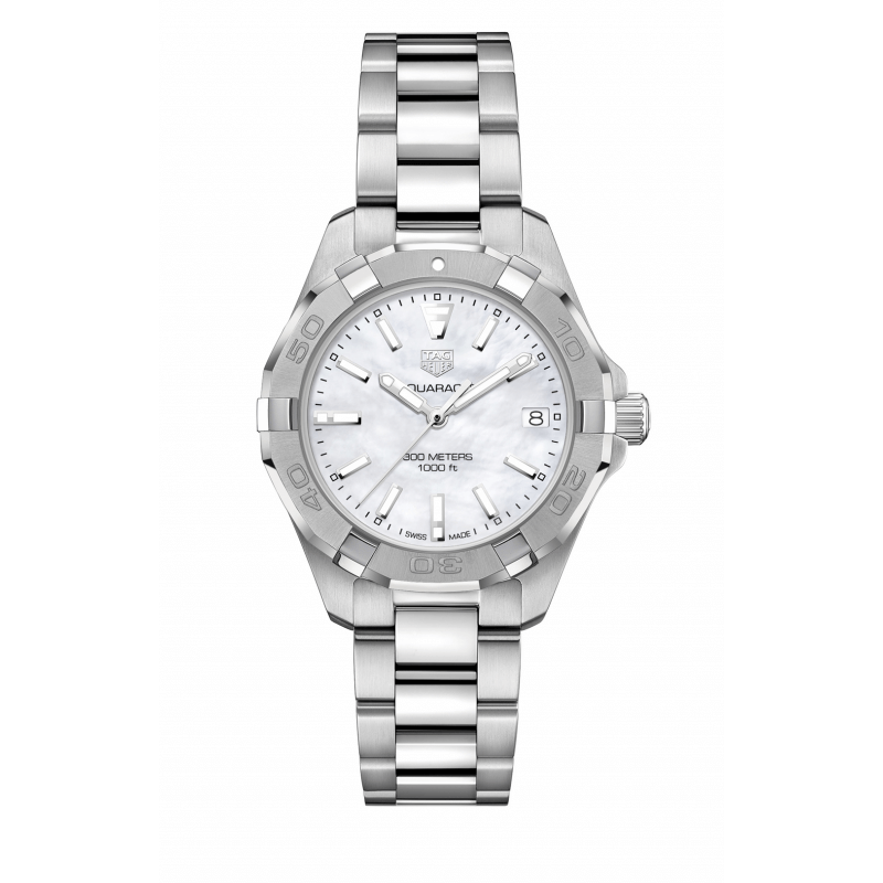 Tag Heuer Aquaracer White Mother of Pearl Dial Ladies Watch Replica