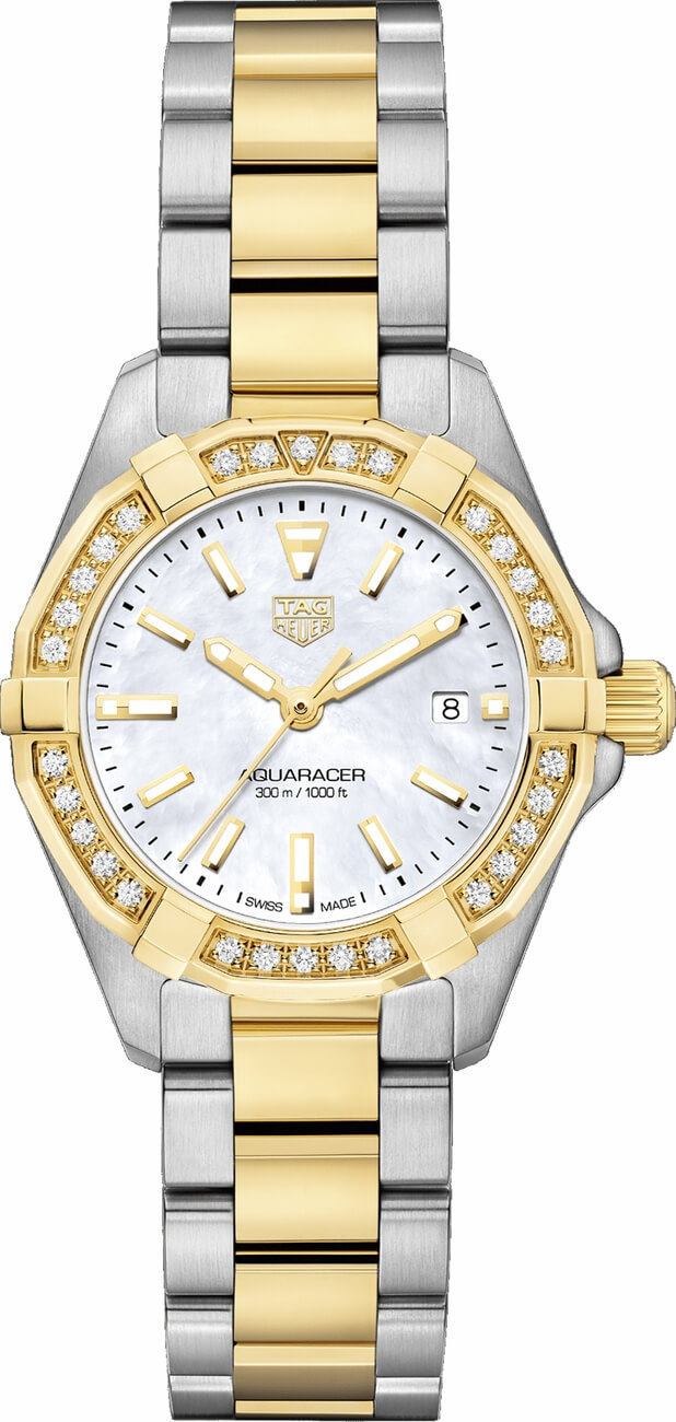 Tag Heuer Aquaracer Ladies 18K Yellow Gold and Steel Watch Replica