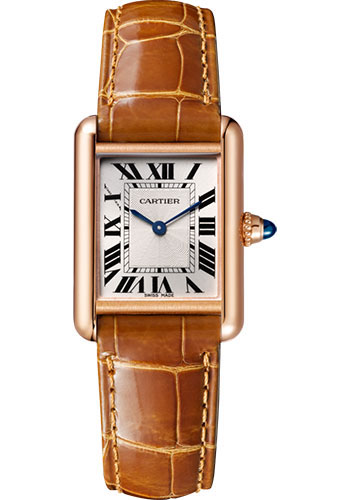 Cartier Tank Louis Silvered Beaded Dial Ladies Hand Wound WGTA0010