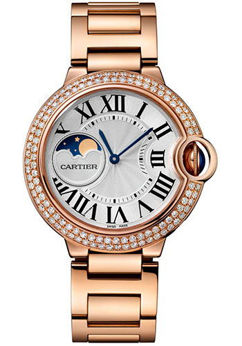 Cartier Ballon Bleu Moonphase 37mm Pink Gold Ladies WJBB0025