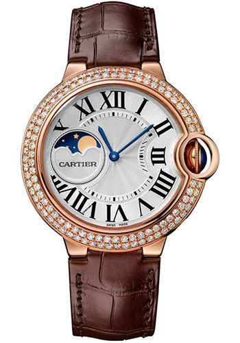 Cartier Ballon Bleu Moonphase 37mm Pink Gold WJBB0027