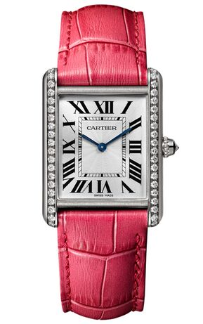 Cartier Tank Louis 18ct White Gold And Diamond WJTA0015 - Click Image to Close