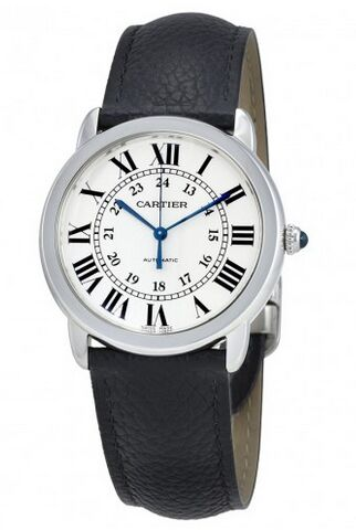 Cartier Ronde Solo Silver Opaline Dial Automatic Ladies WSRN0021