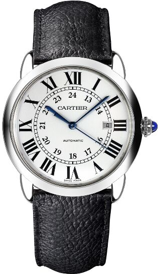 Cartier Ronde Solo Automatic Silvered Opaline Dial Men's WSRN0022