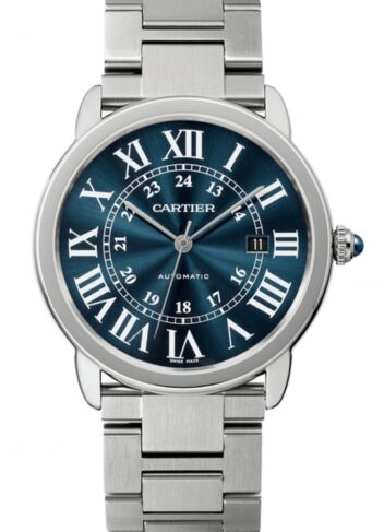 Cartier Ronde Solo Blue Dial Automatic Men's WSRN0023