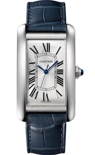 Cartier Tank Americaine Automatic Silver Dial Men's WSTA0018