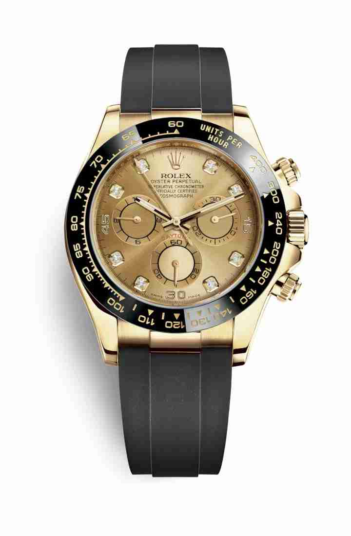 Rolex Cosmograph Daytona 116518LN Champagne diamonds Watch Replica