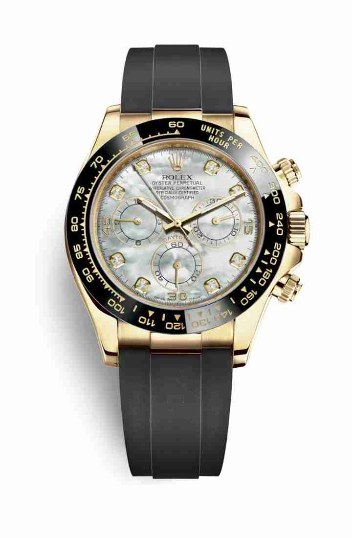 Rolex Cosmograph Daytona 116518LN White mother-of-pearl diamonds Watch Replica