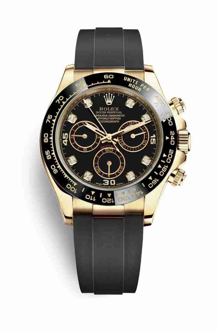 Rolex Cosmograph Daytona 116518LN Black diamonds Watch Replica