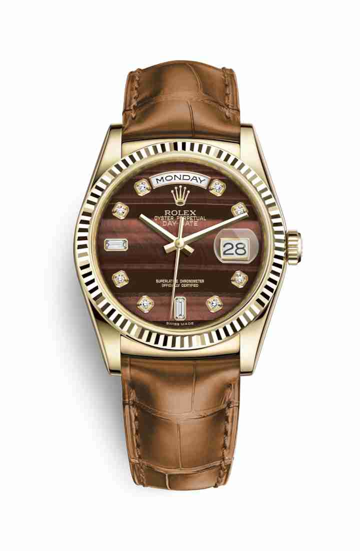 Rolex Day-Date 36 118138 Bulls eye diamonds Watch Replica