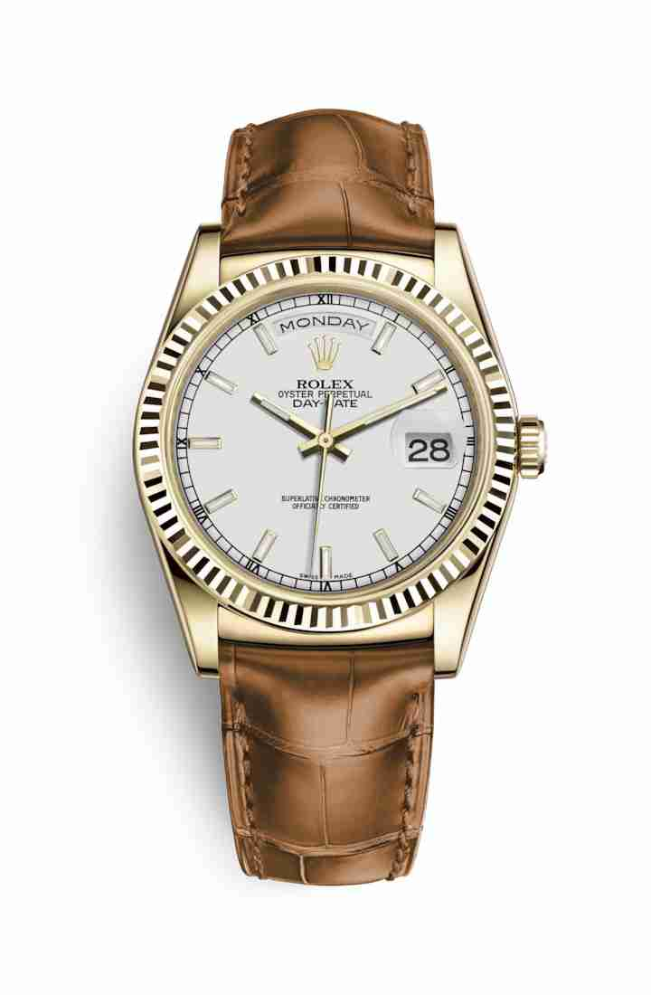 Rolex Day-Date 36 118138 White Dial Watch Replica