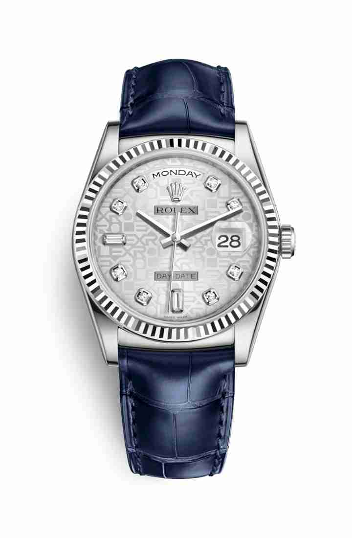 Rolex Day-Date 36 118139 Silver Jubilee diamonds Watch Replica