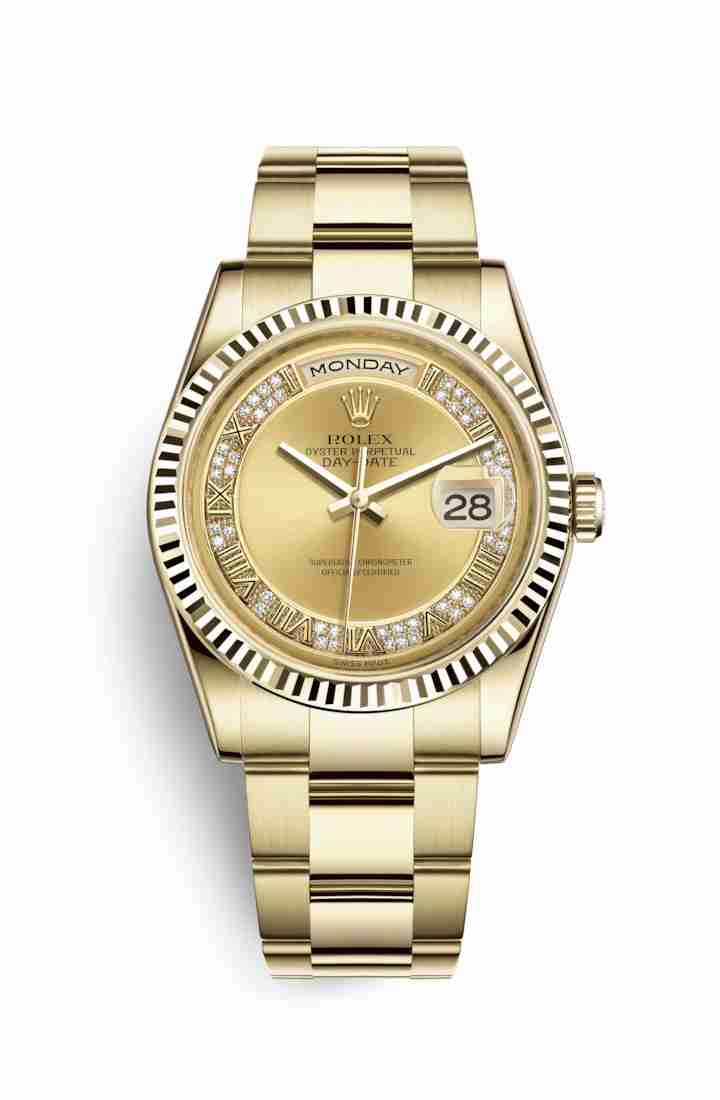Rolex Day-Date 36 118238 Champagne diamonds Watch Replica