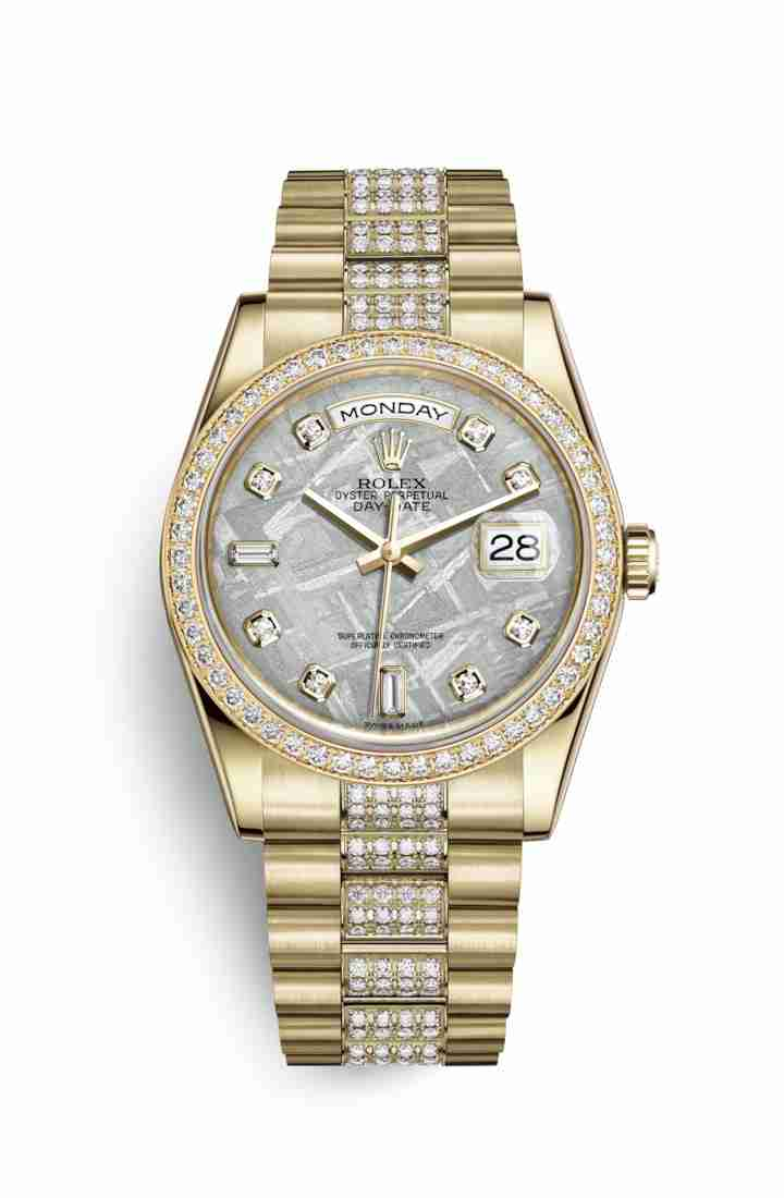Rolex Day-Date 36 118348 Meteorite diamonds Watch Replica