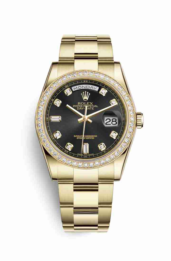 Rolex Day-Date 36 118348 Black diamonds Watch Replica