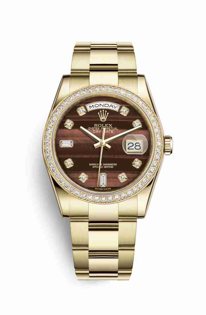 Rolex Day-Date 36 118348 Bulls eye diamonds Watch Replica