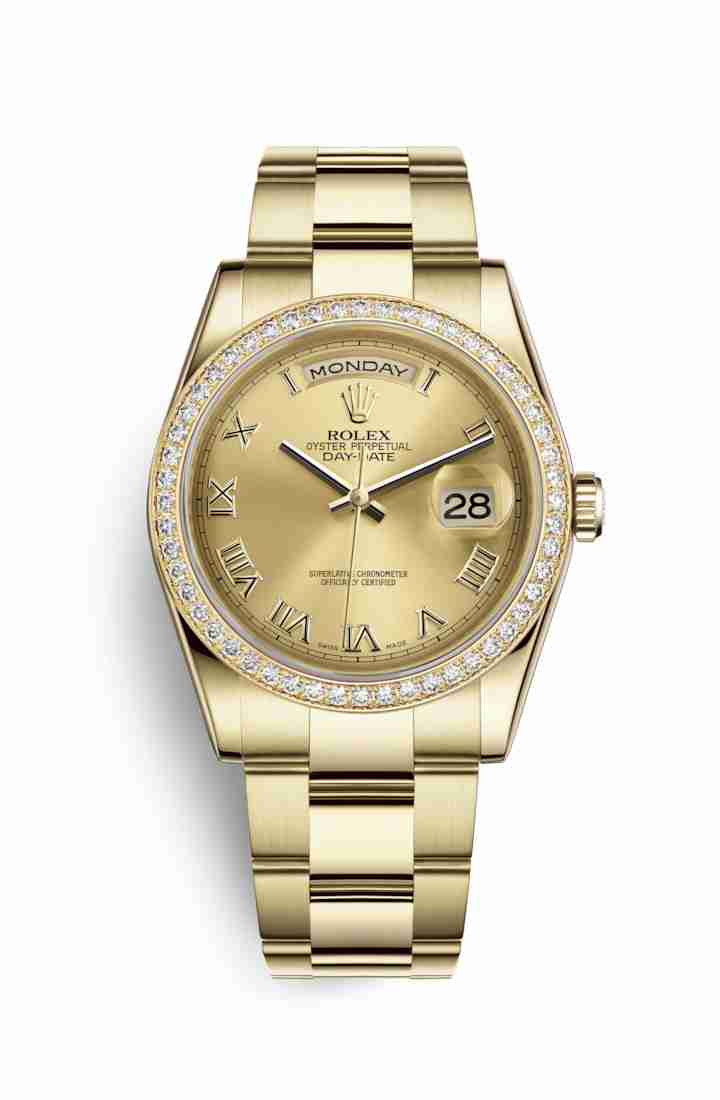 Rolex Day-Date 36 118348 Champagne Dial Watch Replica