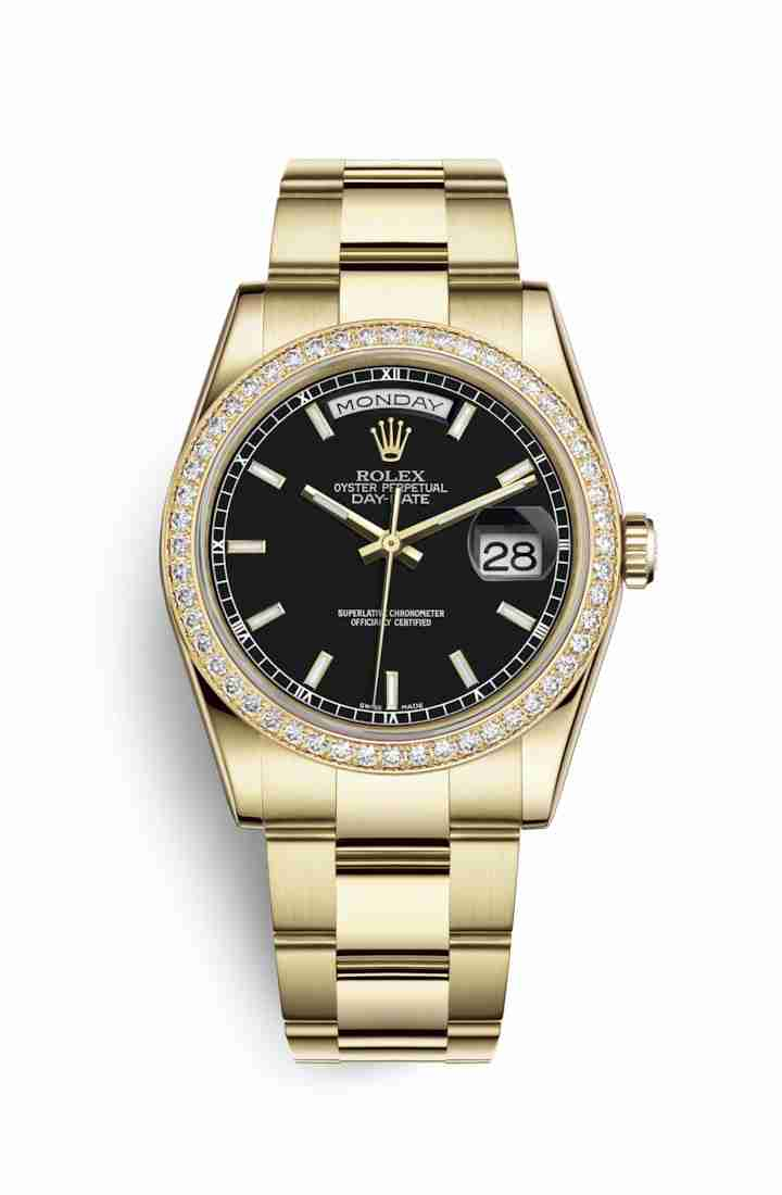 Rolex Day-Date 36 118348 Black Dial Watch Replica