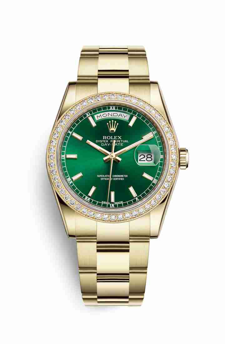 Rolex Day-Date 36 118348 Green Dial Watch Replica