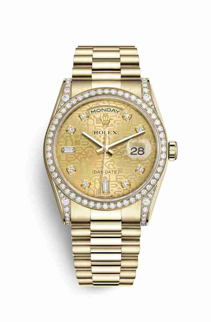 Rolex Day-Date 36 118388 Champagne Jubilee diamonds Watch Replica