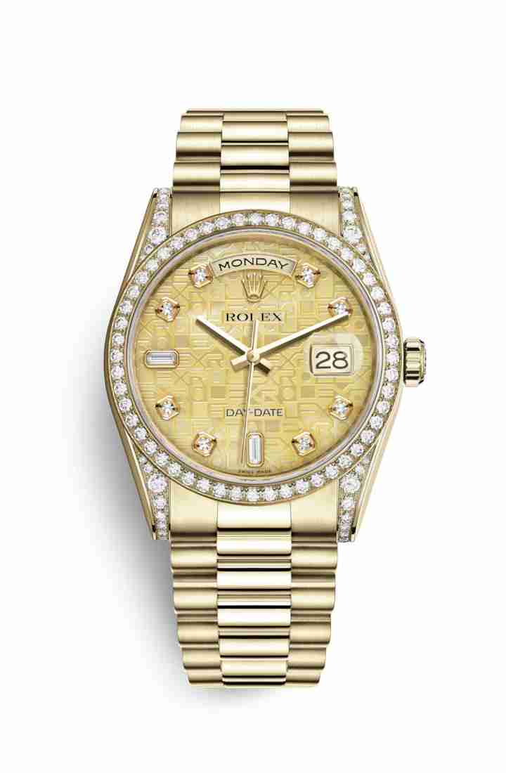 Rolex Day-Date 36 118388 Champagne mother-of-pearl Jubilee diamonds Watch Replica