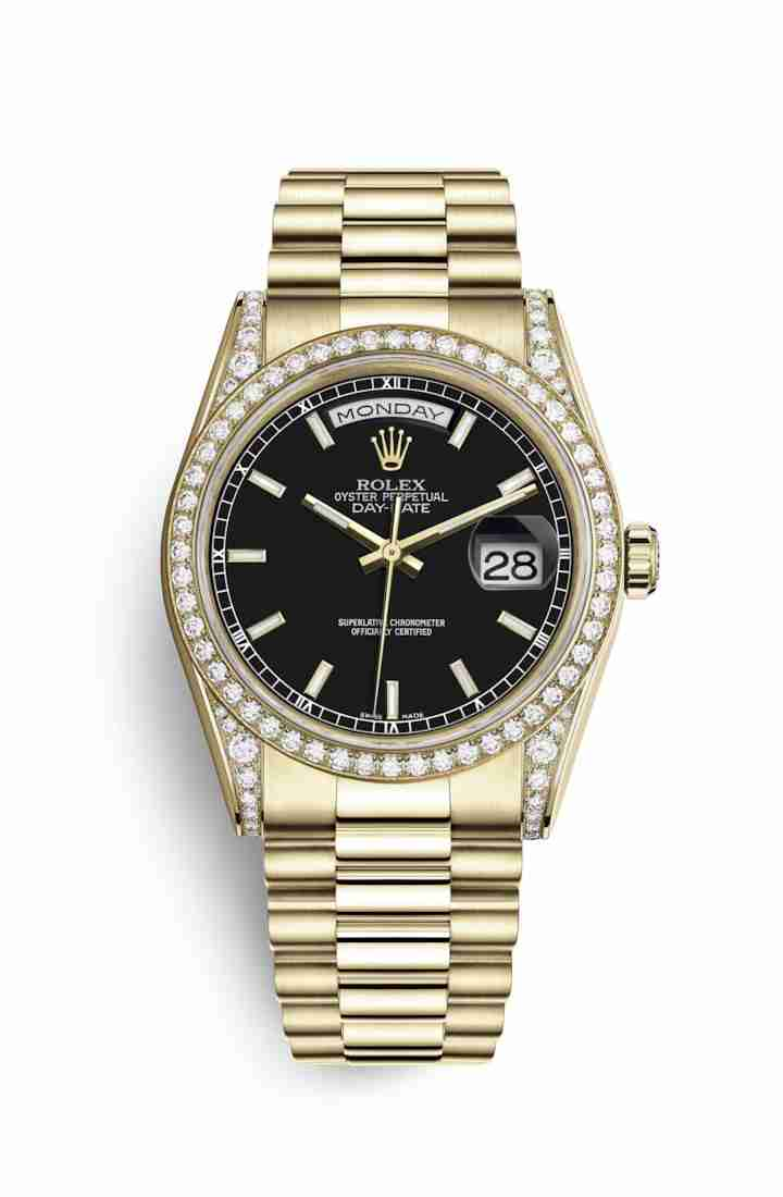 Rolex Day-Date 36 118388 Black Dial Watch Replica
