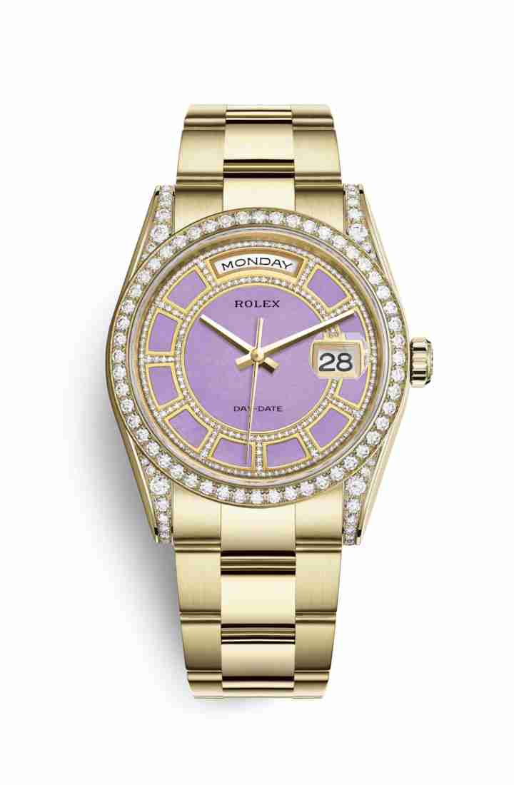 Rolex Day-Date 36 118388 Carousel of lavender jade Dial Watch Replica