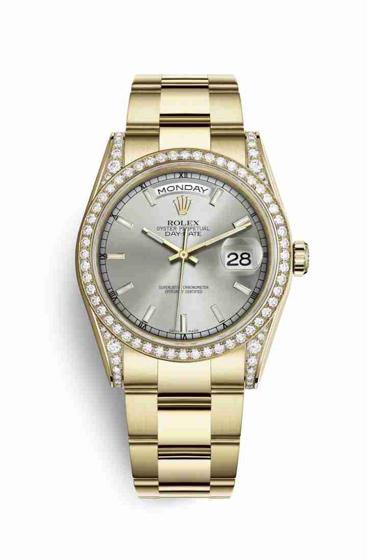 Rolex Day-Date 36 118388 Silver Dial Watch Replica