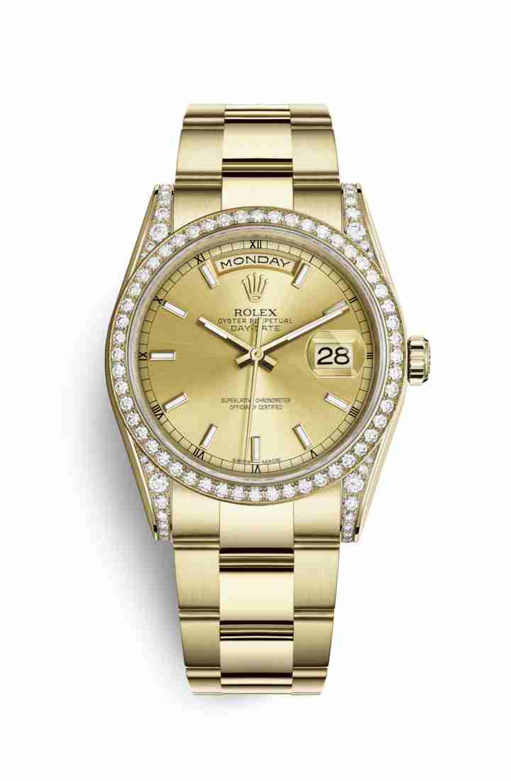 Rolex Day-Date 36 118388 Champagne Dial Watch Replica - Click Image to Close