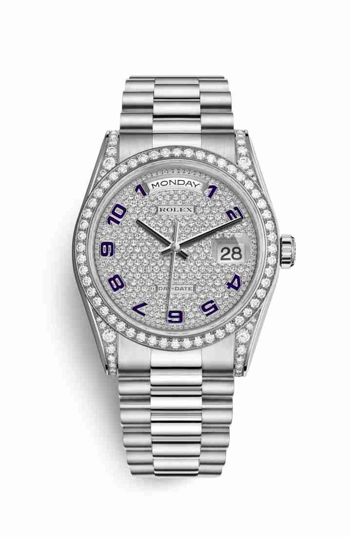 Rolex Day-Date 36 diamonds 118389 Diamond-paved Dial Watch Replica