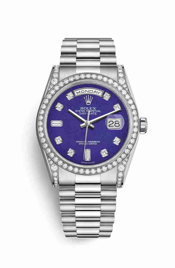 Rolex Day-Date 36 diamonds 118389 Lapis Lazuli diamonds Watch Replica