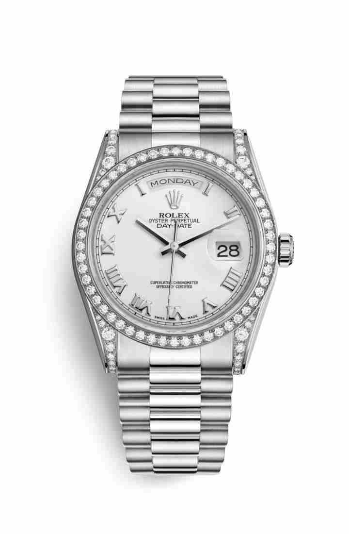 Rolex Day-Date 36 diamonds 118389 White Dial Watch Replica