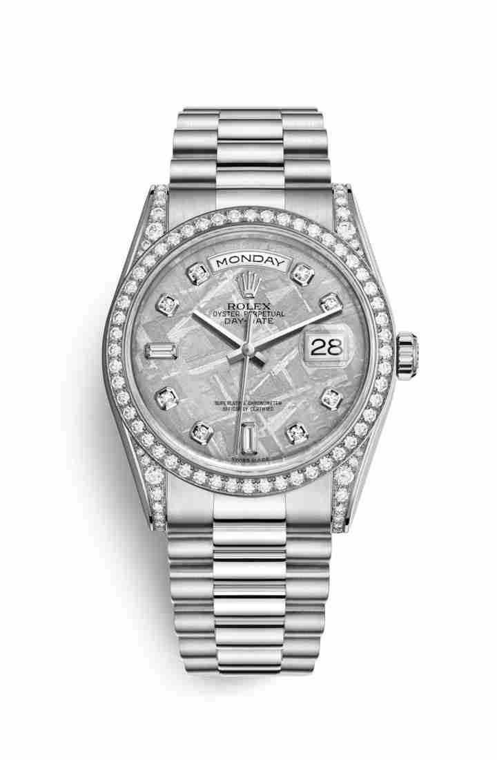 Rolex Day-Date 36 diamonds 118389 Meteorite diamonds Watch Replica