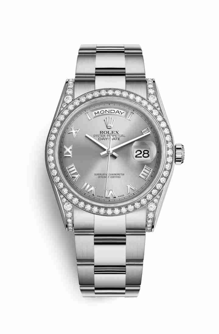 Rolex Day-Date 36 diamonds 118389 Rhodium Dial Watch Replica