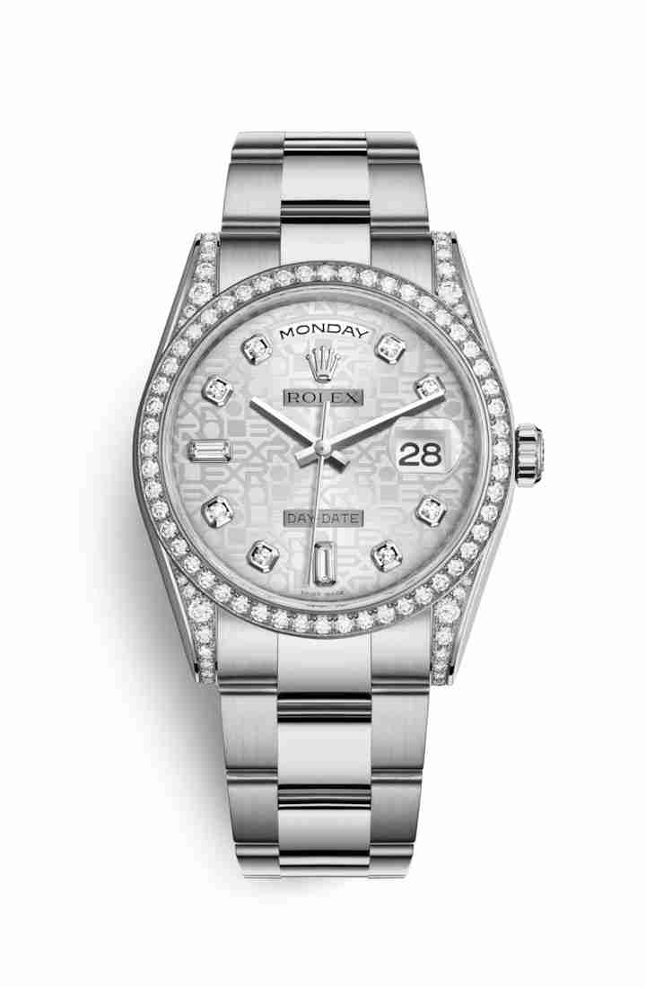 Rolex Day-Date 36 diamonds 118389 Silver Jubilee diamonds Watch Replica