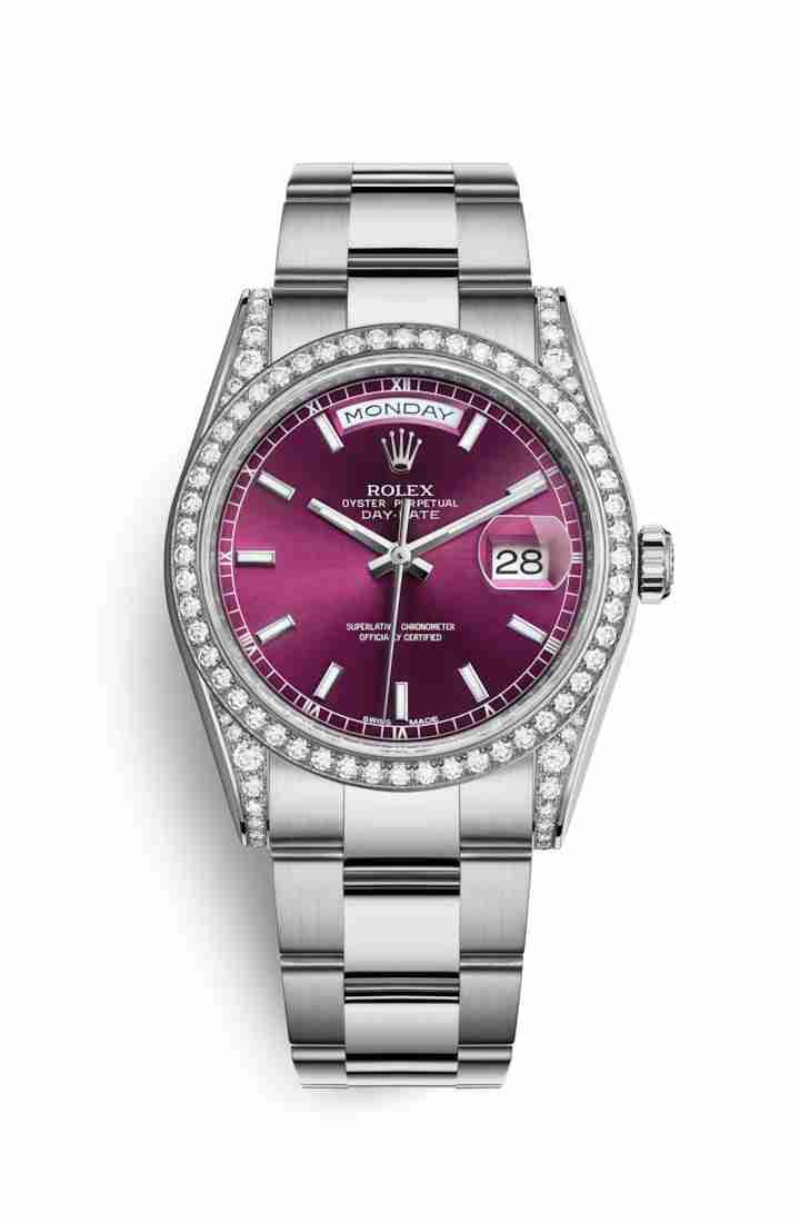Rolex Day-Date 36 diamonds 118389 Cherry Dial Watch Replica