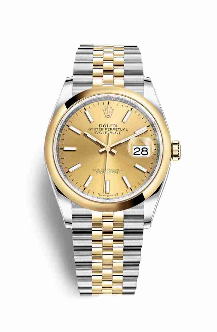 Rolex Datejust 36 Yellow 126203 Champagne Dial Watch Replica