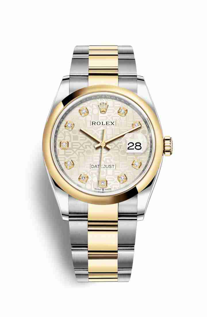 Rolex Datejust 36 Yellow 126203 Silver Jubilee diamonds Watch Replica