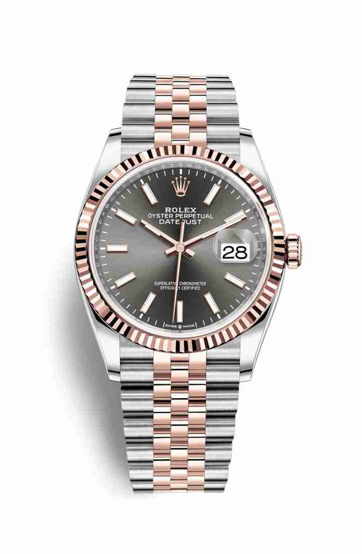 Rolex Datejust 36 Everose gold 126231 Dark rhodium Dial Watch Replica
