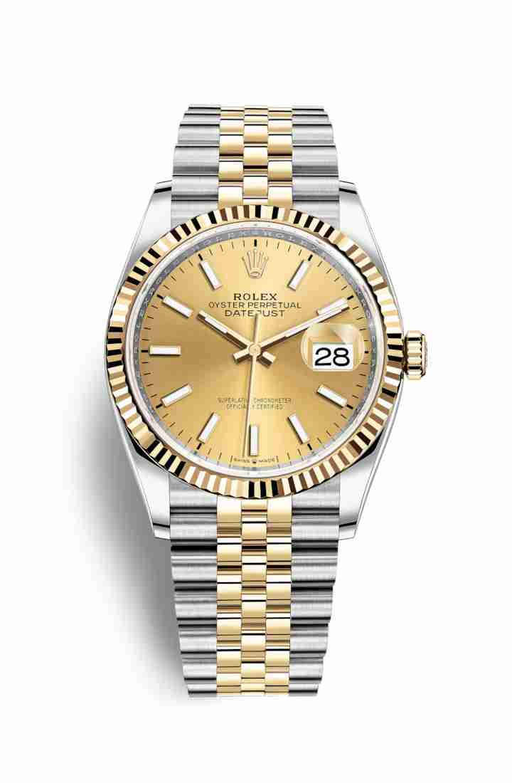 Rolex Datejust 36 Yellow 126233 Champagne Dial Watch Replica