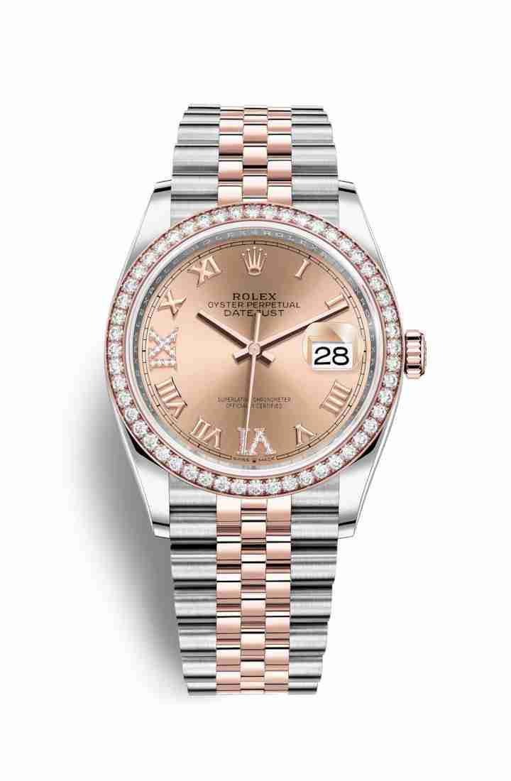 Rolex Datejust 36 Everose gold 126281RBR Rose diamonds Watch Replica