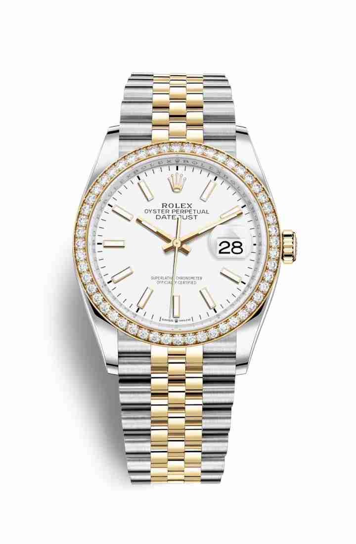 Rolex Datejust 36 Yellow 126283RBR White Dial Watch Replica