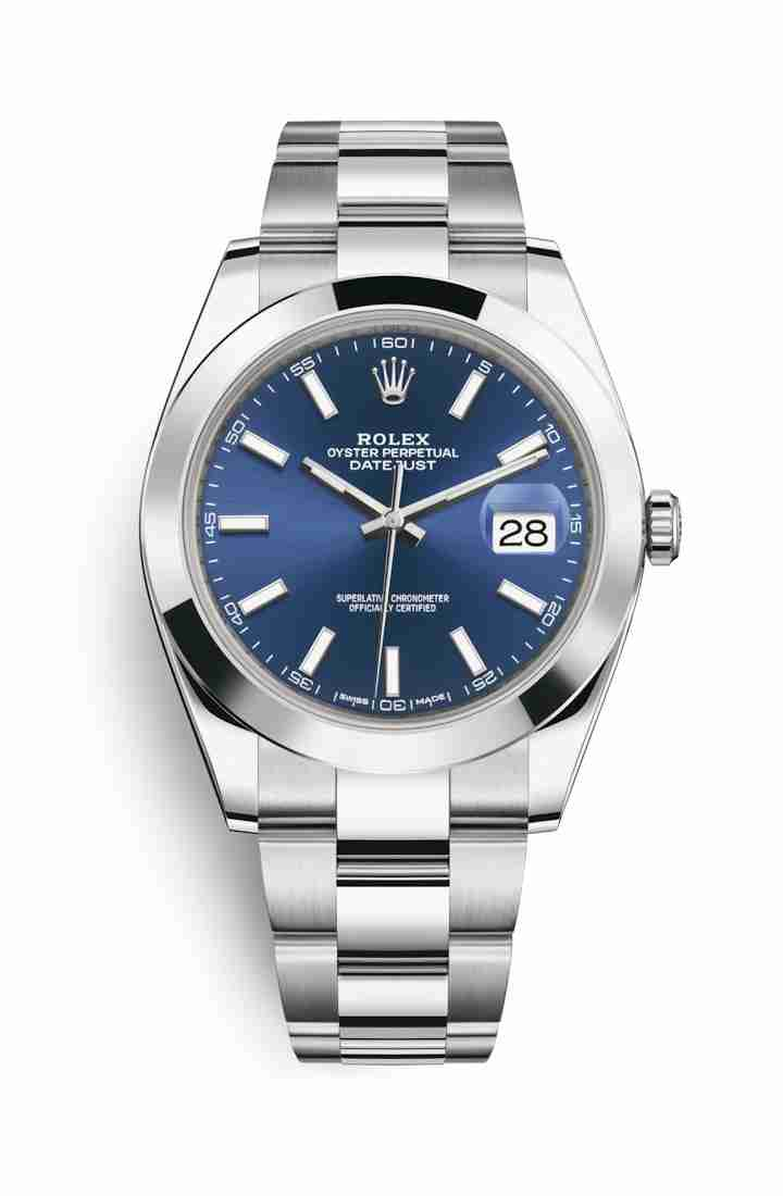 Rolex Datejust 41 Oystersteel 126300 Blue Dial Watch Replica