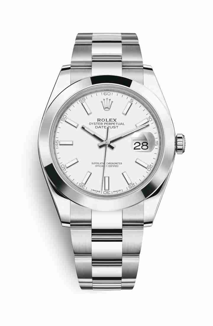 Rolex Datejust 41 Oystersteel 126300 White Dial Watch Replica