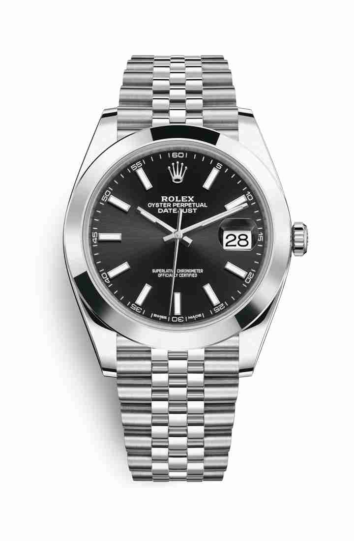 Rolex Datejust 41 Oystersteel 126300 Black Dial Watch Replica